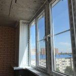 Металлопластиковый балкон в многоэтажке п.метальникова