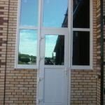Витраж с дверью в частный дом на ростовском шоссе