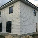 Монтаж окон из профиля Elex 70 мм с ламинацией антрацит в частном доме в станице Старонижестеблиевской. Фото 2