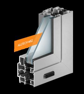 Алюминиевые окна. Система C48(холодная) и W62(теплая) рамного остекления