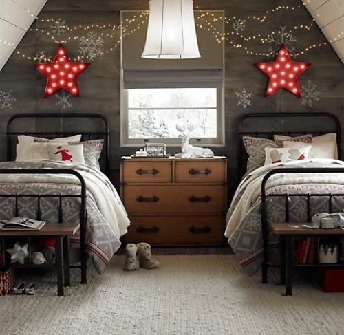 Блестящие огни для детской спальни